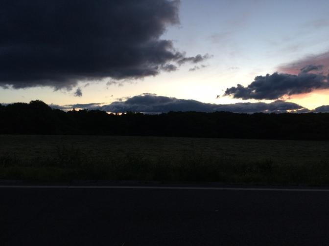 那須岳手前で夜が明けました。
